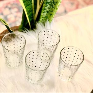Beautiful Set of (4) Anthropologie Glasses